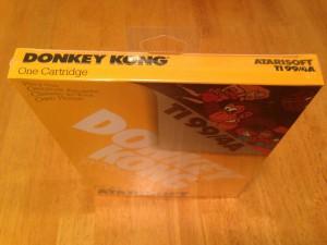 Donkey Kong, Packaging Top Atarisoft RX 8512, TI-99/4A © 1983 Atari, Inc.