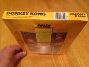 Donkey Kong, Packaging Bottom Atarisoft RX 8512, TI-99/4A © 1983 Atari, Inc.