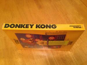 Donkey Kong, Packaging Left Side Atarisoft RX 8512, TI-99/4A © 1983 Atari, Inc.