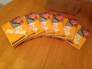 Ms. Pac-Man™, Packaging Boxes Atarisoft RX 8543, TI-99/4A © 1983 Atari, Inc.