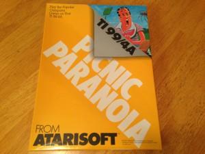 Picnic Paranoia™, Packaging Front Atarisoft RX 8517, TI-99/4A © 1983 Atari, Inc.