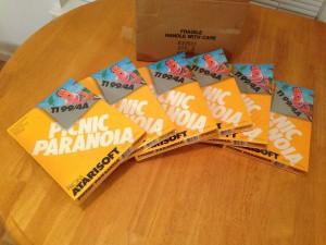 Picnic Paranoia™, Packaging Boxes Atarisoft RX 8517, TI-99/4A © 1983 Atari, Inc.