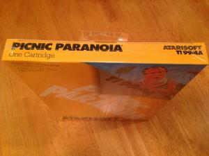 Picnic Paranoia™, Packaging Top Atarisoft RX 8517, TI-99/4A © 1983 Atari, Inc.