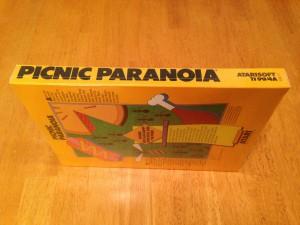 Picnic Paranoia™, Packaging Left Side Atarisoft RX 8517, TI-99/4A © 1983 Atari, Inc.
