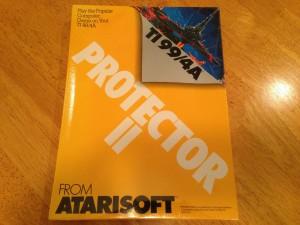 Protector II™, Packaging Front Atarisoft RX 8516, TI-99/4A © 1983 Atari, Inc.