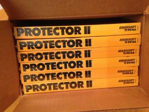 Protector II™, Shipping Box Top Atarisoft RX 8516, TI-99/4A © 1983 Atari, Inc.