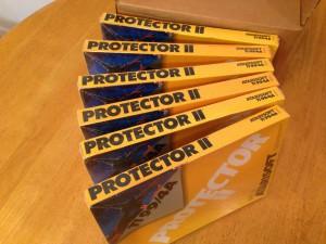 Protector II™, Packaging Boxes Atarisoft RX 8516, TI-99/4A © 1983 Atari, Inc.