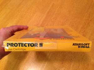 Protector II™, Packaging Top Atarisoft RX 8516, TI-99/4A © 1983 Atari, Inc.