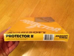 Protector II™, Packaging Bottom Atarisoft RX 8516, TI-99/4A © 1983 Atari, Inc.